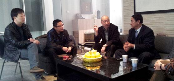 2012年3月12日山西省建筑装饰协会秘书长张真一行来我司